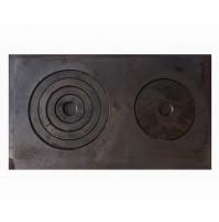Плита 2-х конфорочная чугунная