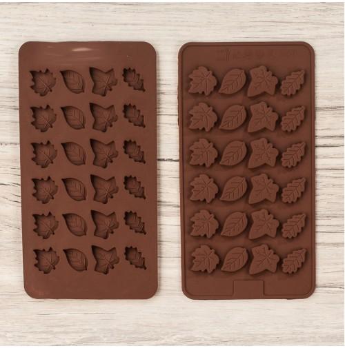 ММ-1049 Силиконовая форма для шоколада (D075)Листики