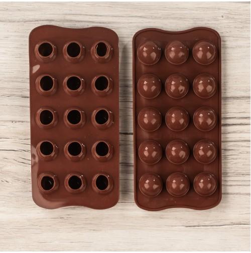 ММ-1050 Форма для шоколада (CD0757)Сферы